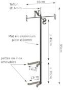 Les dimensions du support Mât