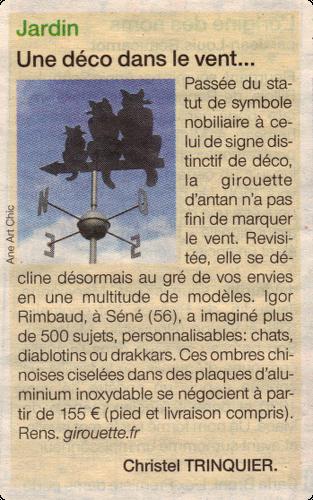 Ouest France. Parution du : dimanche 31 mars, 2013